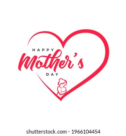 Mother's day greeting card. Handmade calligraphy vector illustration for mother's day.