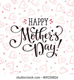 Mothers day greeting card template happy stock vector royalty free mothers day greeting card template happy mothers day wording with dry brush hearts on background m4hsunfo