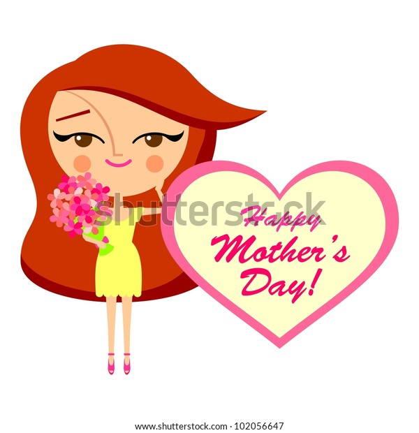 Mother's day greeting card (vector version)