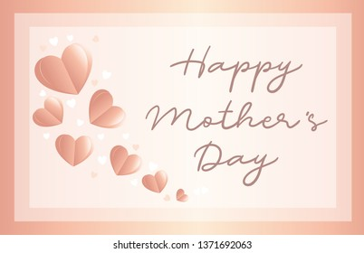 Mother's day greeting in love background. Vector. Illustration.