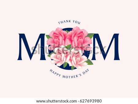 Mothers day greetings thank you mom stock vector royalty free mothers day greetings with thank you mom message vector illustration m4hsunfo