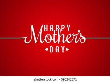 mothers day line vintage lettering background