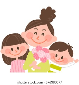 Mother's Day - mother and children