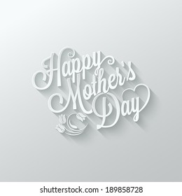 mothers day paper lettering background