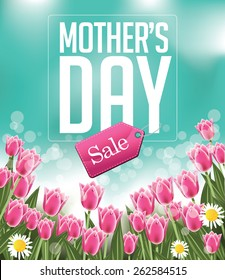 Mothers Day sale background EPS 10 vector illustration for greeting card, ad, promotion, poster, flier, blog, article, social media, marketing, flyer, web page, signage
