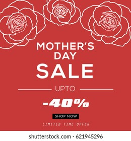 Mother's Day Sale Banner Vector Illustration