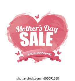 Mothers Day Sale design. EPS 10 vector.