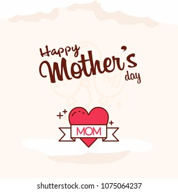 Mother's day sale poster or banner for Mother's day holiday shop seasonal discount offer. Vector International Mother's Day on 13th May design template of pink hearts pattern background