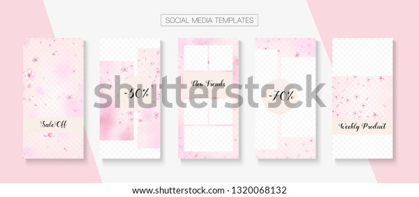Mothers Day Spring Sale Vector Stories Stock Vector (Royalty