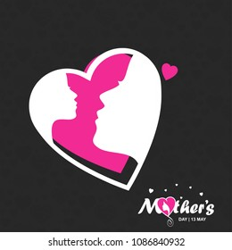 Mother's day typographic design with dark background and unique