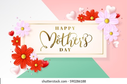 Mothers day typographical design card