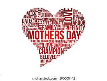 Mothers day word cloud concept in vector