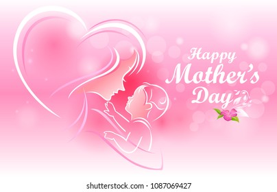 Mother's heart for a child