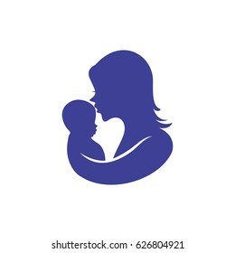 mothers love care icon logo