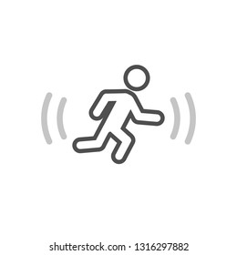 Motion detector outline icon. Clipart image isolated on white background