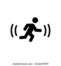 Motion detector silhouette icon. Clipart image isolated on white background