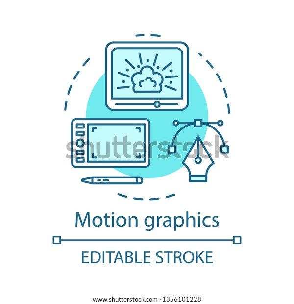 Motion Graphics Concept Icon Visual Effects Stock Vector
