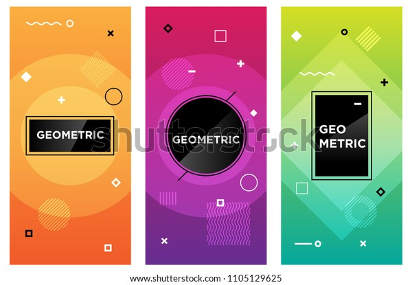 Motion Graphics Elements Vector Illustration Background