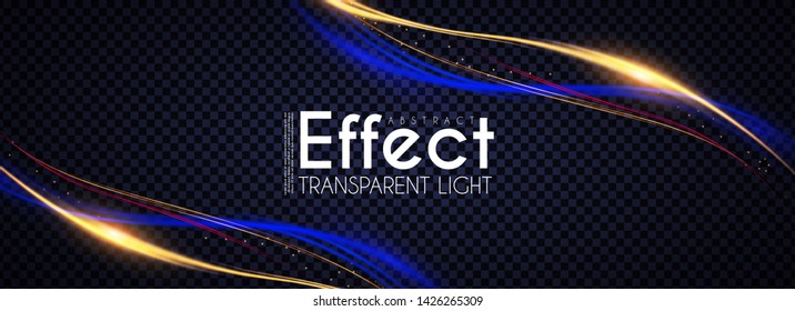 Motion Light Effect. Shining Wave. Glow Design Element.