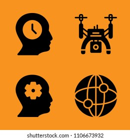 motion, pilot, vector and businessman icons set. Vector illustration for web and design
