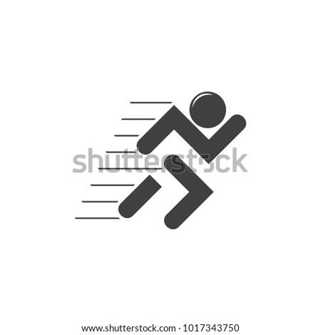 Motion Running Man Symbol Logo Vector Stock Vector Royalty Free