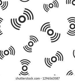 Motion sensor icon seamless pattern background. Sensor waves vector illustration. Security connection symbol pattern.