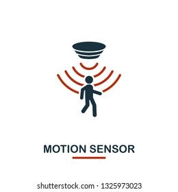 Motion Sensor icon from sensors icons collection. Creative two colors design symbol motion sensor icon. Web design, apps, software usage. UI and UX