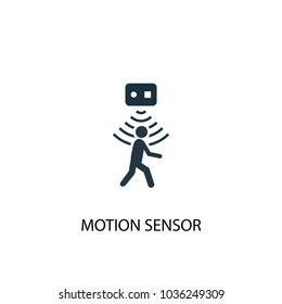 motion sensor icon. Simple element illustration. motion sensor symbol design from Smart home collection. Can be used for web and mobile.