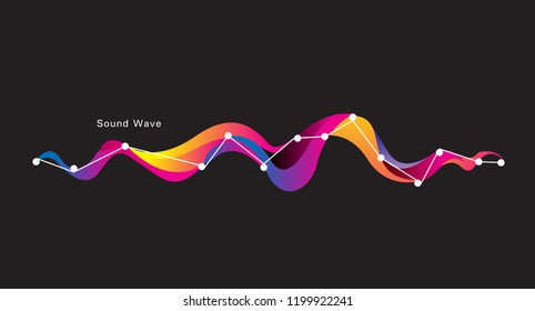 motion sound wave abstract vector background