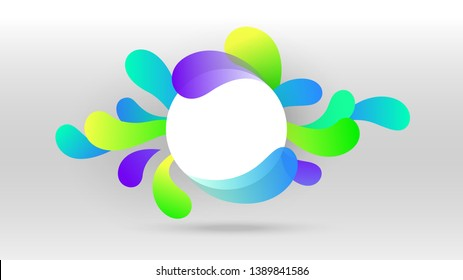 Motion sound wave with blank circle abstract vector background