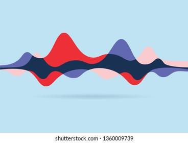 Motion Sound Wave Color Vector Illustration