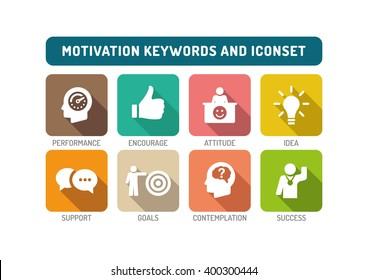 Motivation Flat Icon Set