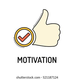 MOTIVATION Line icon