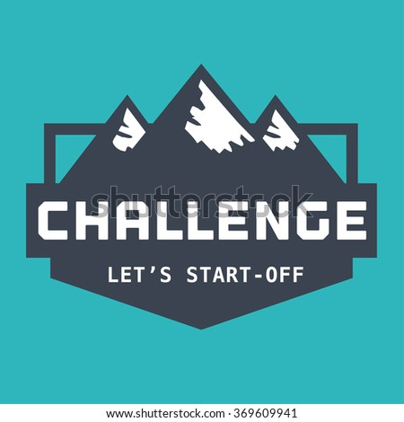 Motivation Quote Challenge Lets Startoff Business Stock Vector