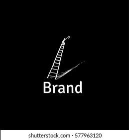 Motivation vector logo. Catch a star illustration