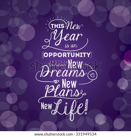Motivational Message New Year Design Vector Stock Vector (Royalty ...