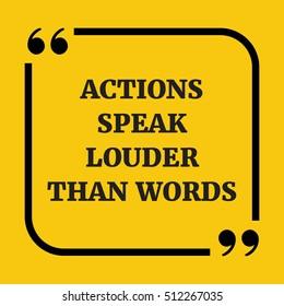 Actions Speak Louder than Words Clip Art