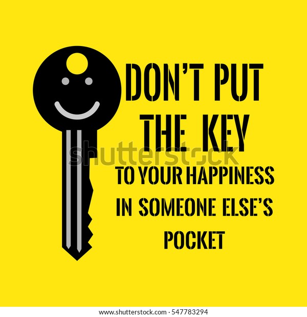 motivational quote dont put key your stock vector royalty