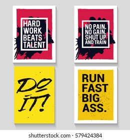 Motivational quote. Modern typography poster design. Vector