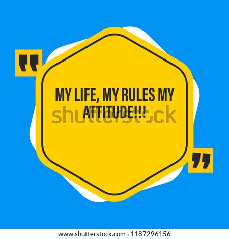 Motivational Quotes Attitude Quotes Stock Vector Royalty Free
