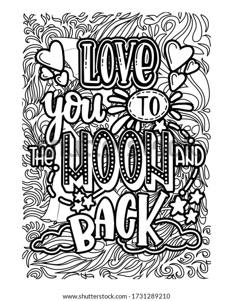 Motivational Quotes Coloring Pages Design Inspirational Stock Vector  (Royalty Free) 1731289210
