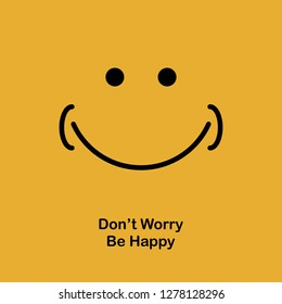 Motivational quotes poster banner design with happy and smile vector illustration
