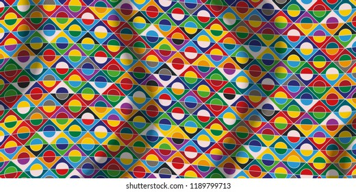 Motley pattern, colorful background, diversity of colors, ethnicities and nations of Europe, vector template