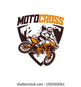 moto cross logo vector racing team dirt bike