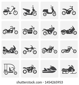 Moto related icons set on background for graphic and web design. Simple illustration. Internet concept symbol for website button or mobile app.