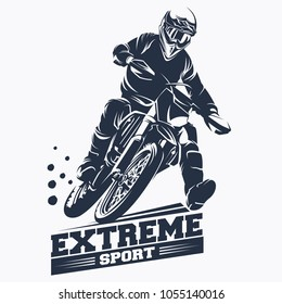 Moto Track or Motocross Jump Logo Vector