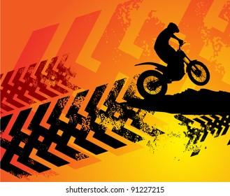 Motocross background, vector illustration