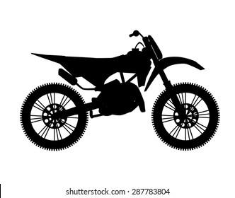 motocross bike silhouette