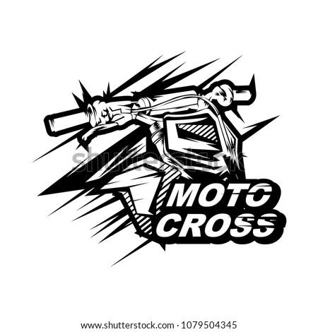 4c4301ba Motocross Design Vector Motocross Design Tshirt Stock Vector ...