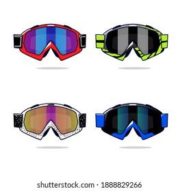 Motocross Glasses Stock Vector illustrations